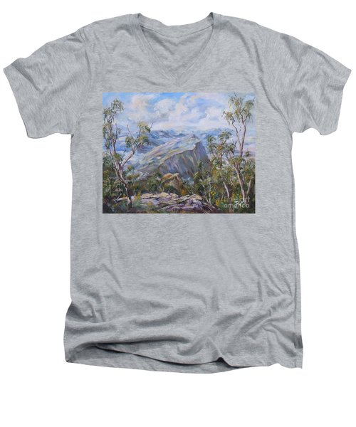 Mount Abrupt Grampians Victoria Men's V-Neck T-Shirt