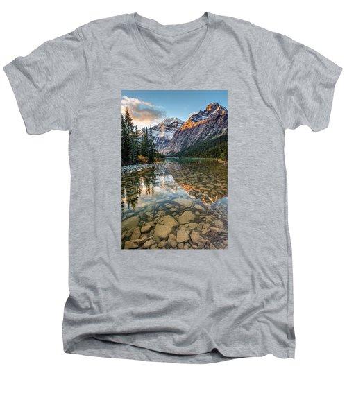 Mount Edith Cavell Sunrise Men's V-Neck T-Shirt