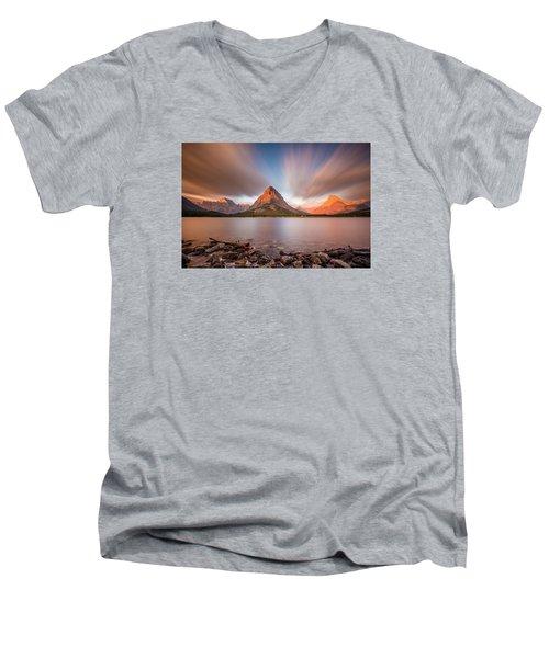 Mount Grinnell Sunrise Men's V-Neck T-Shirt