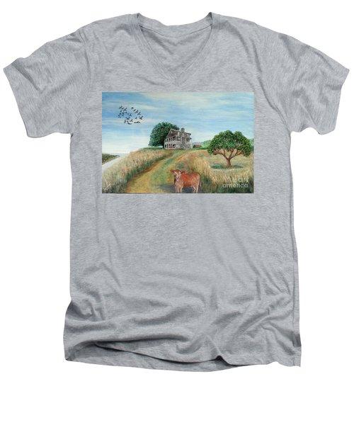 Mount Hope Plantation Men's V-Neck T-Shirt by Lyric Lucas