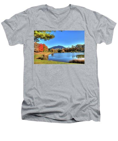 Mount Jefferson Reflection Men's V-Neck T-Shirt