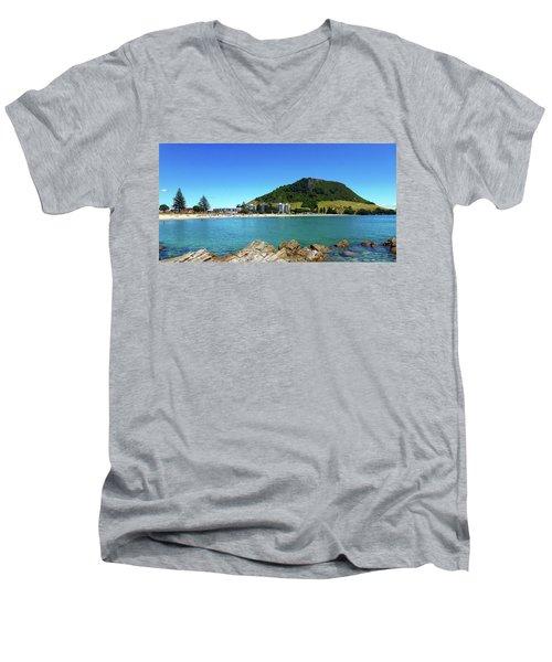 Mount Maunganui Beach 10 - Tauranga New Zealand Men's V-Neck T-Shirt