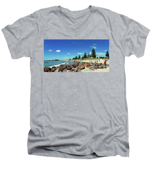 Mount Maunganui Beach 6 - Tauranga New Zealand Men's V-Neck T-Shirt