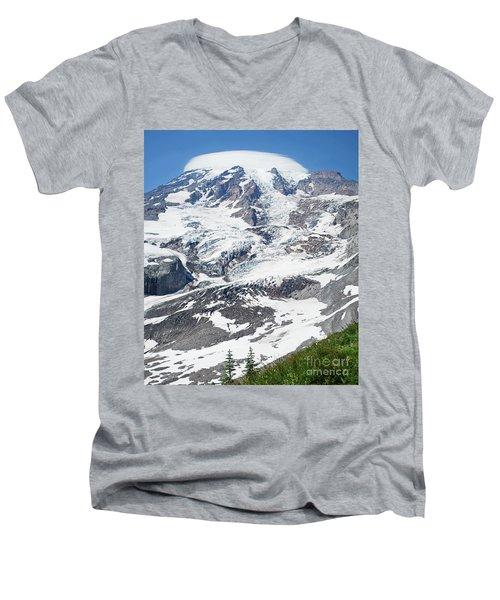 Mount Rainier Men's V-Neck T-Shirt