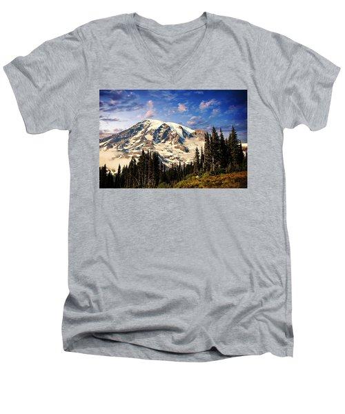 Mount Ranier Men's V-Neck T-Shirt