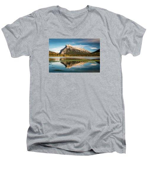 Mount Rundle Banff Men's V-Neck T-Shirt