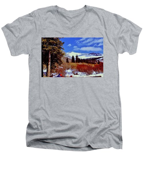 Mount St Vrain  Men's V-Neck T-Shirt