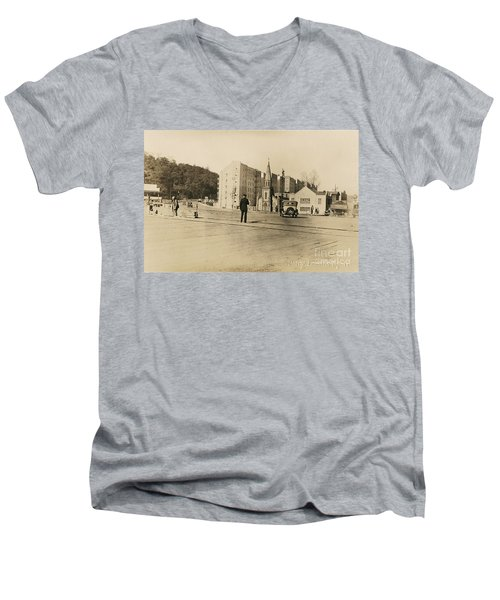 Men's V-Neck T-Shirt featuring the photograph Mount Washington Church  by Cole Thompson