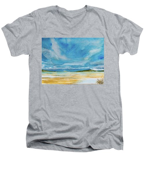View Of Mount Wellington From South Bruny Island Men's V-Neck T-Shirt