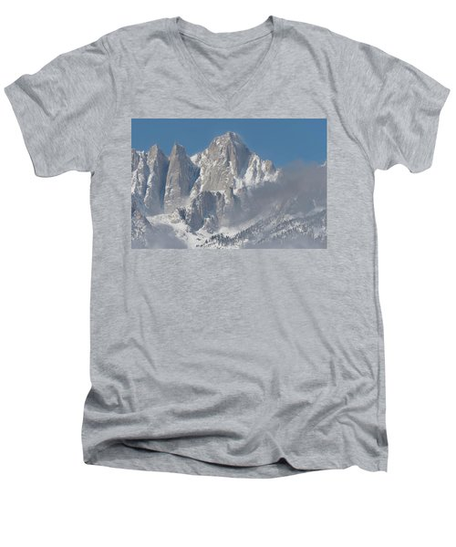 Mount Whitney In March Men's V-Neck T-Shirt