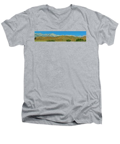 Mount Whitney Panorama Men's V-Neck T-Shirt