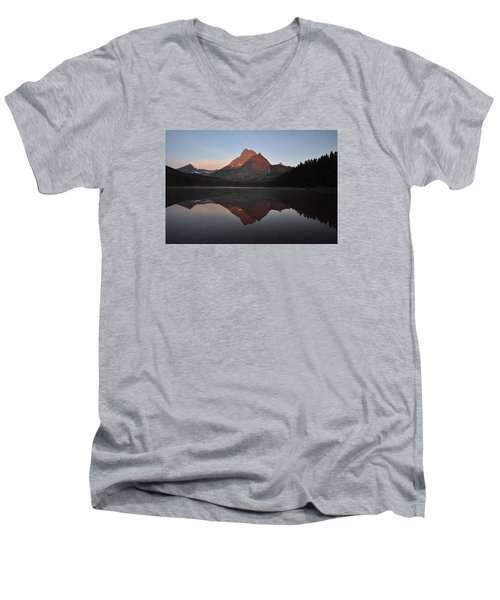 Mount Wilbur, Glacier National Park Men's V-Neck T-Shirt