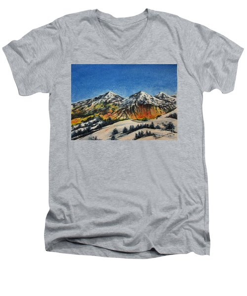Mountain-5 Men's V-Neck T-Shirt
