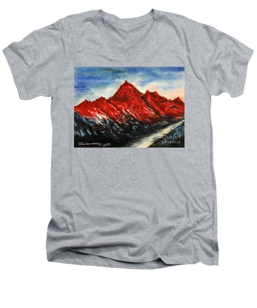 Mountain-7 Men's V-Neck T-Shirt