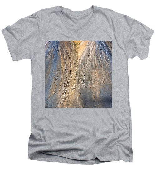 Mountain Abstract 3 Men's V-Neck T-Shirt