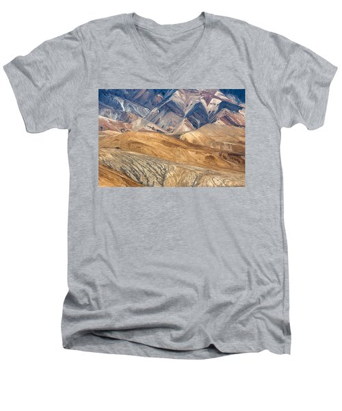 Mountain Abstract 4 Men's V-Neck T-Shirt