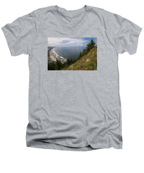 Mountain And Beach Men's V-Neck T-Shirt