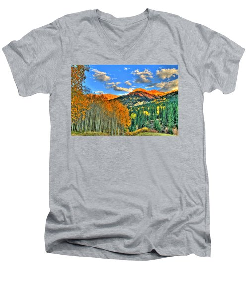 Mountain Beauty Of Fall Men's V-Neck T-Shirt