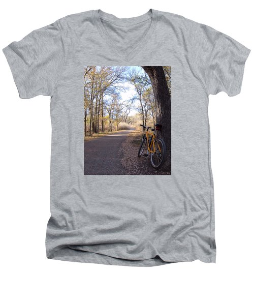 Mountain Bike Trail Men's V-Neck T-Shirt