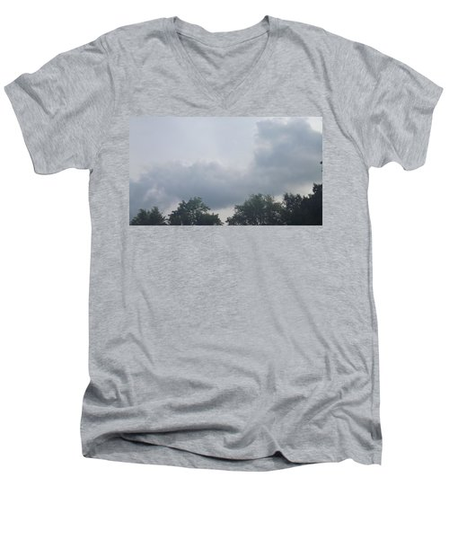 Mountain Clouds 4 Men's V-Neck T-Shirt by Don Koester