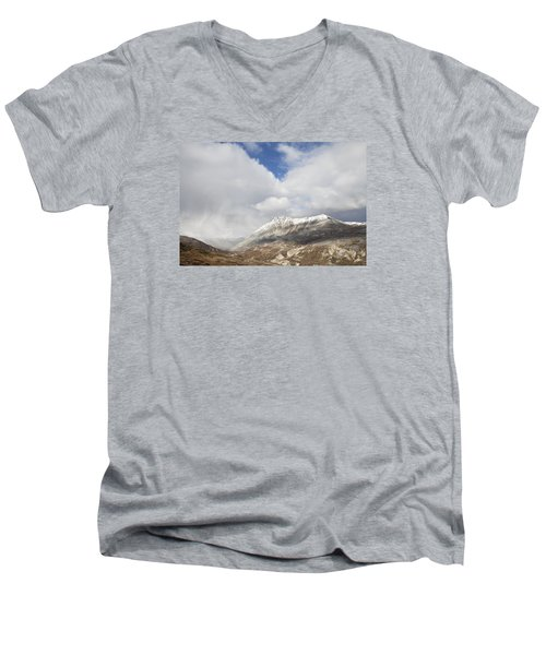 Mountain Clouds And Sun Men's V-Neck T-Shirt