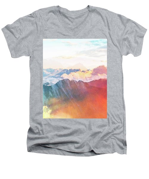 Mountain Glory Men's V-Neck T-Shirt by Uma Gokhale