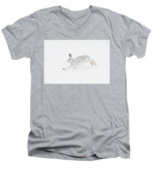 Mountain Hare Running Men's V-Neck T-Shirt