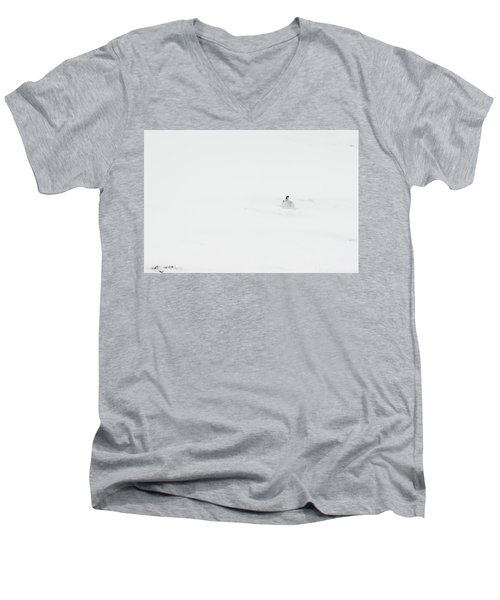 Mountain Hare Small In Frame Right Men's V-Neck T-Shirt