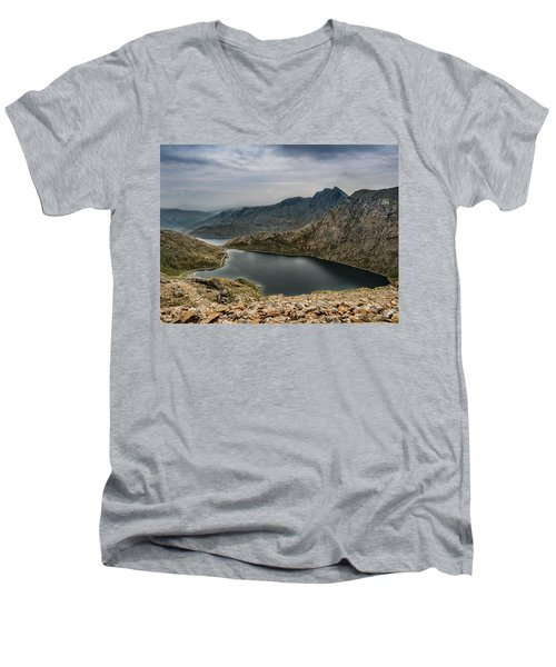 Men's V-Neck T-Shirt featuring the photograph Mountain Hike by Nick Bywater
