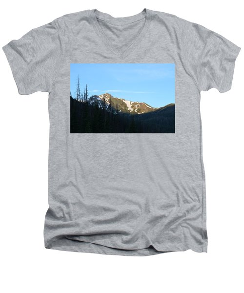Mountain In Rocky Mountian Np Co Men's V-Neck T-Shirt