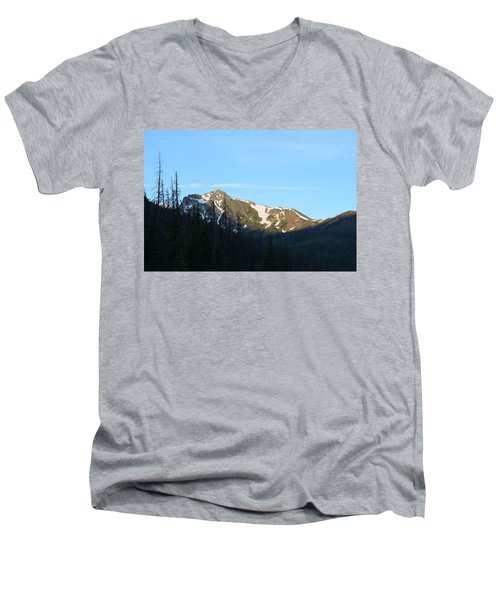 Mountain In Rocky Mountian Np Co Men's V-Neck T-Shirt