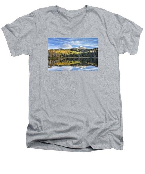 Mountain Lake Reflection Men's V-Neck T-Shirt
