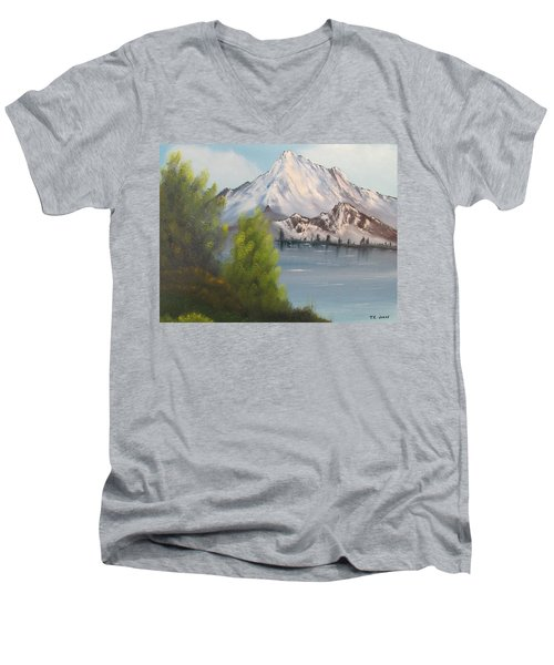 Mountain Lake Men's V-Neck T-Shirt by Thomas Janos