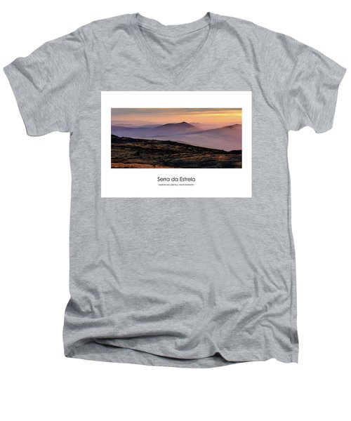 Mountain Mist Poster Men's V-Neck T-Shirt by Marion McCristall