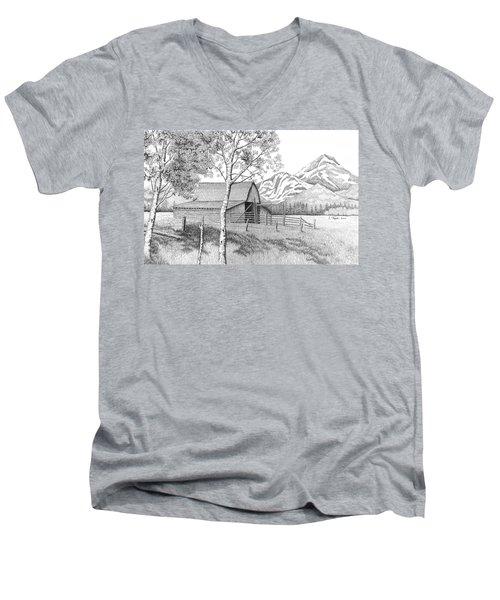 Mountain Pastoral Men's V-Neck T-Shirt by Lawrence Tripoli