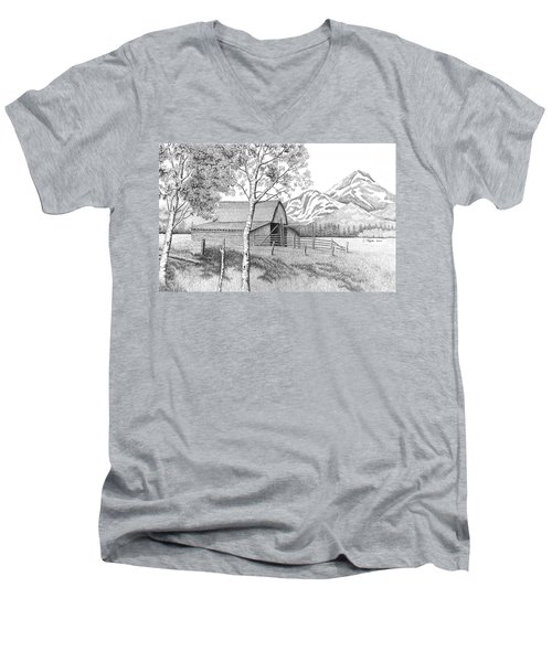 Mountain Pastoral Men's V-Neck T-Shirt