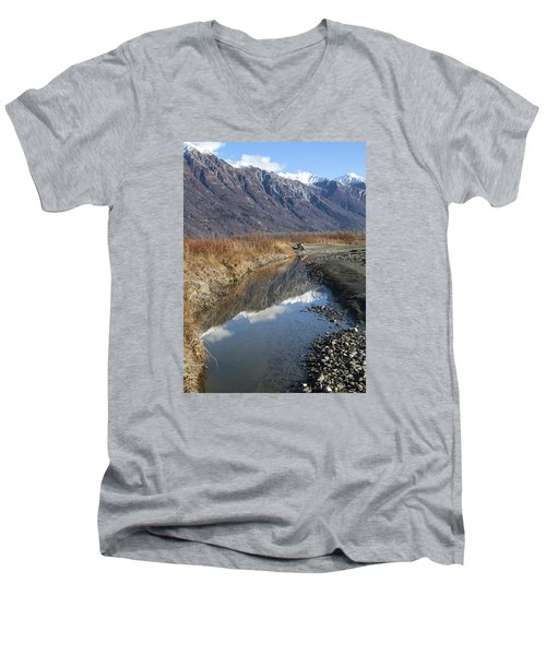 Mountain Reflections In Fall Men's V-Neck T-Shirt