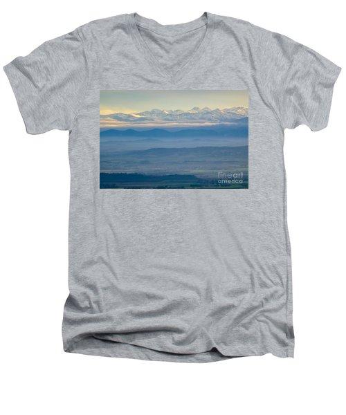 Mountain Scenery 11 Men's V-Neck T-Shirt by Jean Bernard Roussilhe