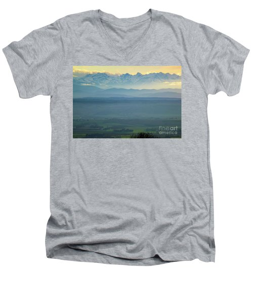 Mountain Scenery 18 Men's V-Neck T-Shirt