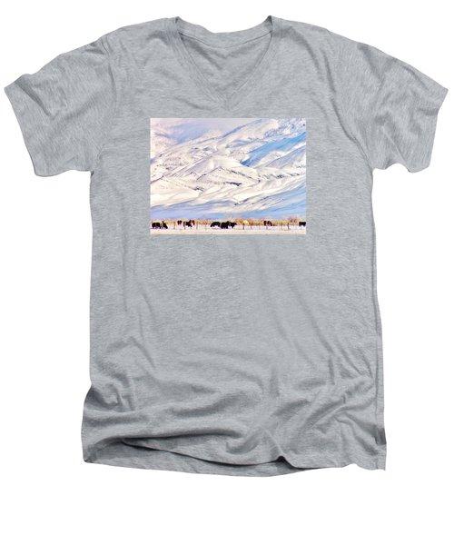 Mountain Snow Men's V-Neck T-Shirt