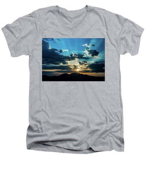 Mountain Sunrise Men's V-Neck T-Shirt