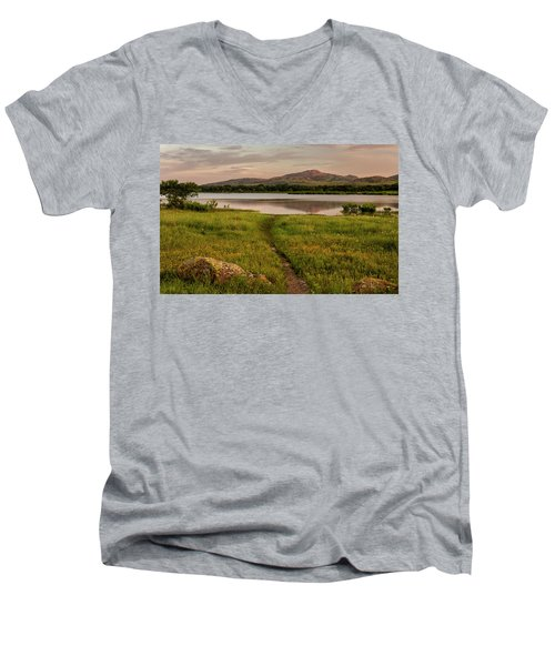 Mountain Trail Men's V-Neck T-Shirt