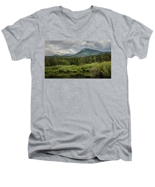 Mountain View From The Marsh Men's V-Neck T-Shirt