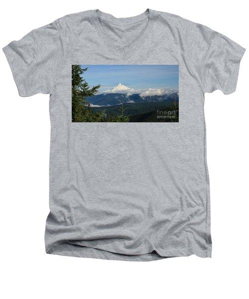 Mountain View Men's V-Neck T-Shirt by Sheila Ping