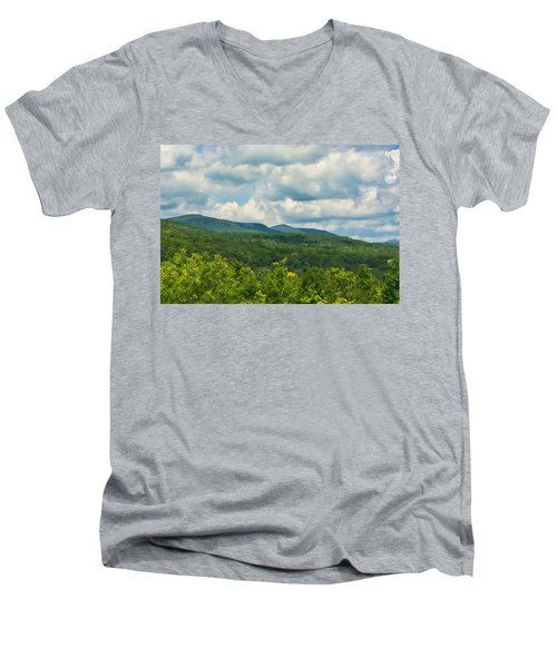 Mountain Vista In Summer Men's V-Neck T-Shirt