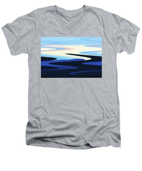 Mountains And Sky Abstract Men's V-Neck T-Shirt by Tom Janca