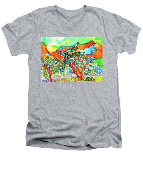 Mountains At Collioure Men's V-Neck T-Shirt
