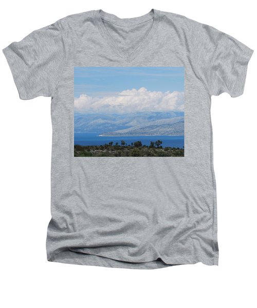 Mountains Far Away  3 Men's V-Neck T-Shirt