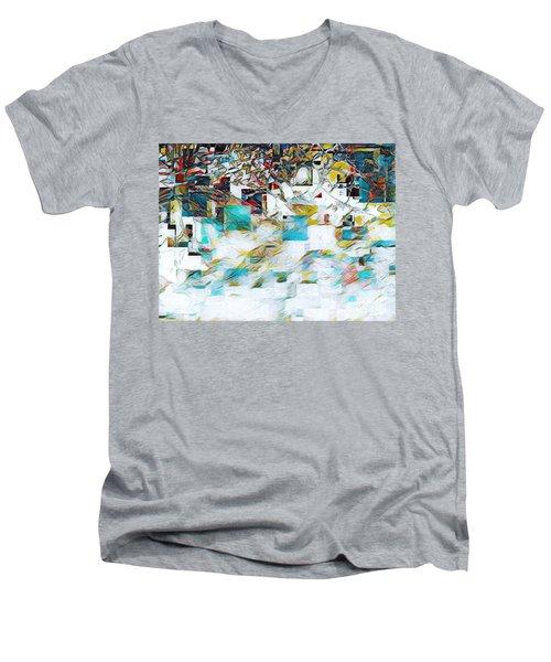 Snowy Mountains Men's V-Neck T-Shirt
