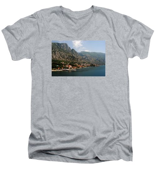 Men's V-Neck T-Shirt featuring the photograph Mountains Of Montenegro by Robert Moss